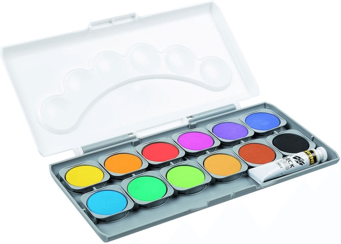 Idena Deckfarbkasten 12 Farben