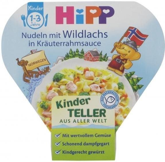 Hipp Kinder-Bio-Teller Nudeln mit Wildlachs in ...