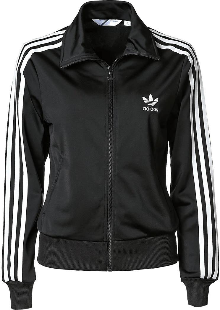 Image of Adidas giacca tuta Firebird donna (nero/bianco)