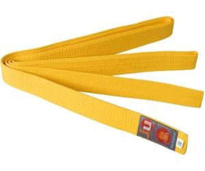 gelber Mittelstreifen GÜRTEL Budogürtel Karate Judo Taekwondo schwarz