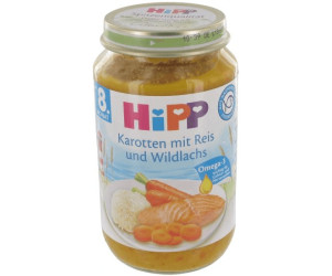 Hipp Karotten mit Reis und Wildlachs (220 g)