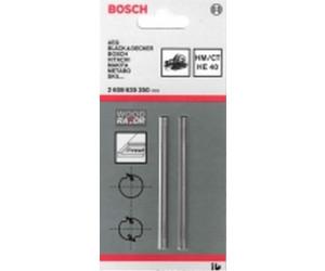 40° 2er-Pack 82.4 x 5.5 mm Bosch Hobelmesser gerade HM