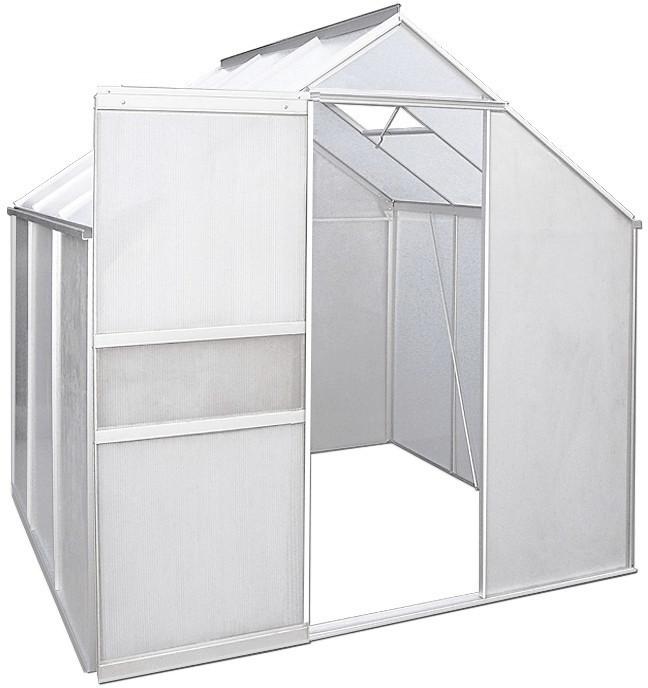 Deuba Alu-Treibhaus 3,7 m² (4mm HKP, Alu blank)