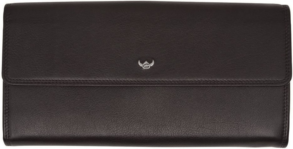 Golden Head Polo Geldbörse 19,5 cm Leder - schwarz
