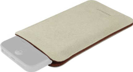 Image of Macally mPouch Case Beige (iPhone 5C)