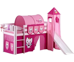 lilokids hochbett ida mit rutsche und turm hello kitty. Black Bedroom Furniture Sets. Home Design Ideas