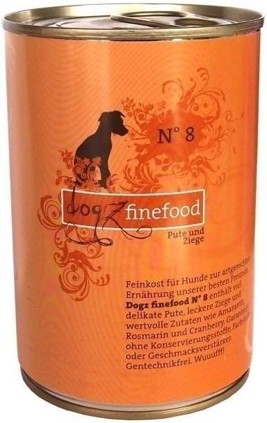 Dogz finefood No.8 Pute & Ziege (400 g)