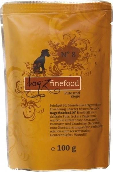 Dogz finefood No.8 Pute & Ziege (100 g)