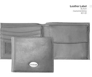 oxmox Leather Pocketbörse II Geldbörse Cubes Schwarz Neu