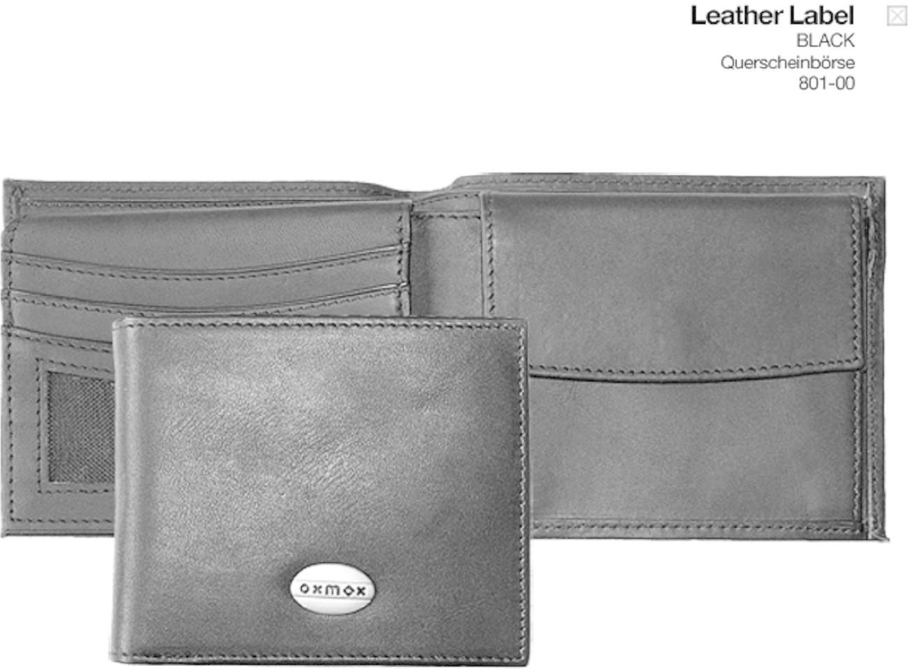 Oxmox Leather Querscheinbörse (80801) black