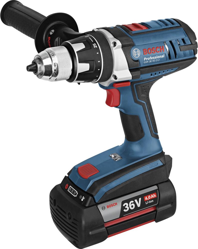 Bosch GSR 36 VE-2-LI Professional (2 x 4,0 Ah Akkus)