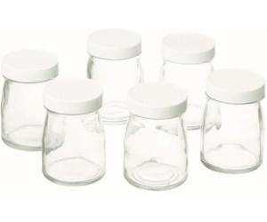 cuisinart lot de 6 pots de yaourts en verre de 125 ml ym401e au meilleur prix sur. Black Bedroom Furniture Sets. Home Design Ideas