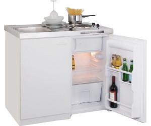 Miniküche Mit Kühlschrank Preisvergleich : Respekta miniküche cm weiss mit oberschrank mit edelstahl