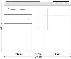 Miniküche 120 Cm Breit Mit Kühlschrank : Stengel mp 120 metall edelstahl ab 1.159 00 u20ac preisvergleich bei