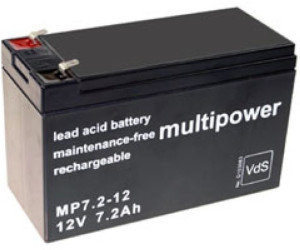 Multipower Mp7 2 12 Pb Rechargeable Battery 12v 7 2ah Ab