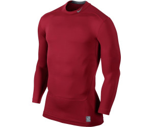 c27d884921 Nike Pro Combat Core Compression Long Sleeve Mock gym red cool grey ...