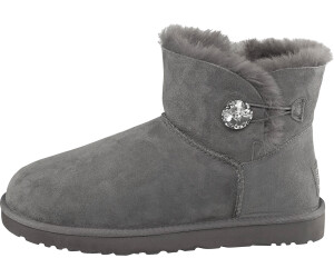 Mini Bailey Button Bling Grey Ankle Boots