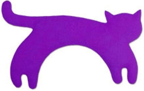 Leschi die Katze Minina stehend Gross - Purpur
