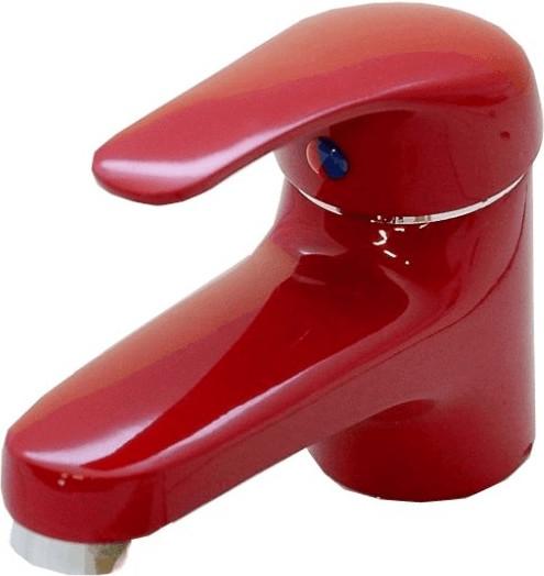 Kirchhoff Einhebel Waschtischarmatur in Rot