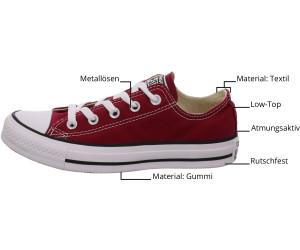 Converse Leinenschuhe M 9696 Damen Schuhe Rot Textil