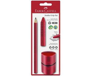 Faber-Castell Set 4 Stück Bleistifte JUMBO SPARKLE 3 Farben Radierer Spitzer