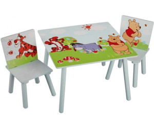 disney winnie the pooh set tisch st hle ab 56 95. Black Bedroom Furniture Sets. Home Design Ideas