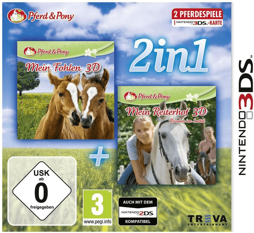 2 in 1: Mein Fohlen 3D + Mein Reiterhof 3D: Riv...