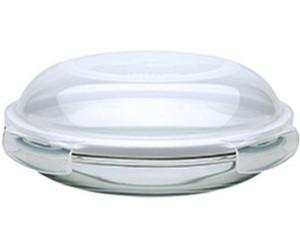 lock lock assiette en verre avec couvercle herm tique 21 cm au meilleur prix sur. Black Bedroom Furniture Sets. Home Design Ideas