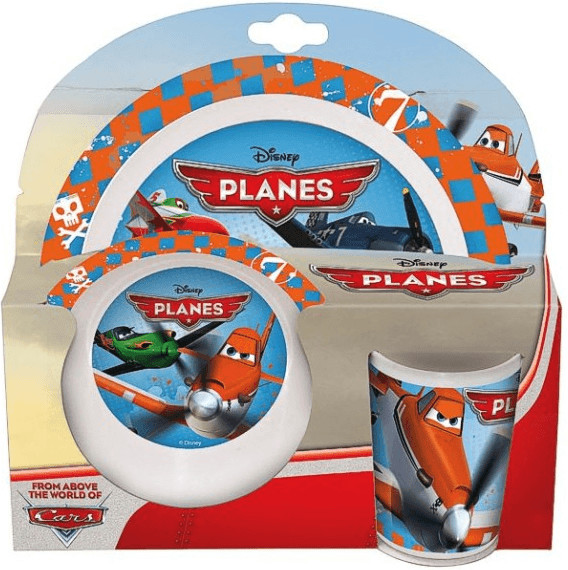 P:os 3-teilig Geschirr-Set Disney Planes
