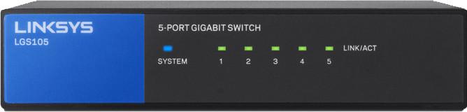 Image of Linksys 5-Port Desktop Gigabit Switch (LGS105)