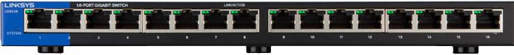 Image of Linksys 16-Port Desktop Gigabit Switch (LGS116)