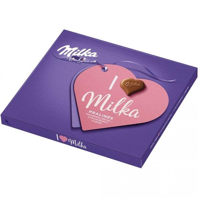 Milka I love Milka Erdbeer-Rahm (110g)