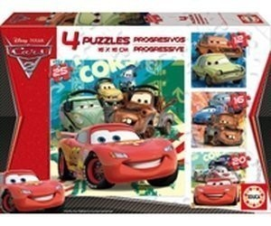 Educa Borrás Cars 2 - Progress (4 Puzzles) desde 5 70b5aa752df5
