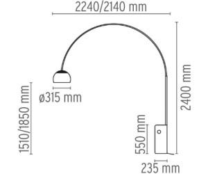 FLOS Arco F0303000 Multichip LED a € 1.275,00 | Miglior prezzo su idealo