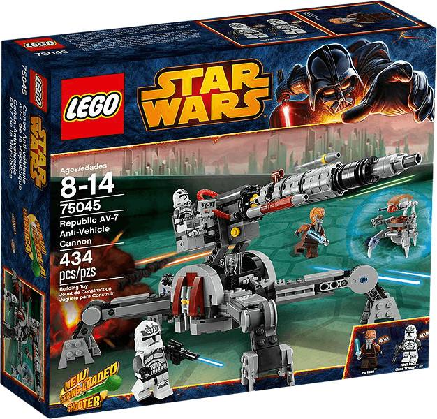 LEGO Star Wars - Cañón antivehículo AV-7 de la república (75045)
