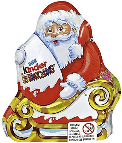 Ferrero Kinder Schokolade Weihnachtsmann mit Üb...