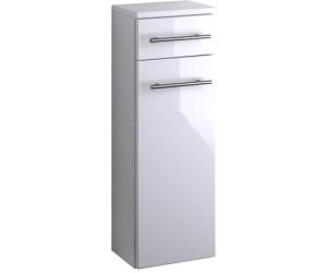 Badezimmer Midischrank SMALL Badezimmerschrank 1 Tür 2 Schubladen 25 cm weiss