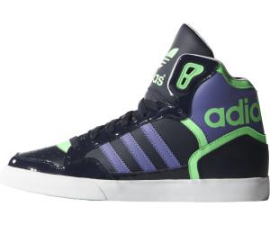 Verkauf Leder Adidas Extaball W Schuhe schwarz weiß grün DE