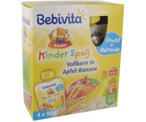 Bebivita Kinder Spaß Vollkorn Apfel-Banane (4 x 90 g)