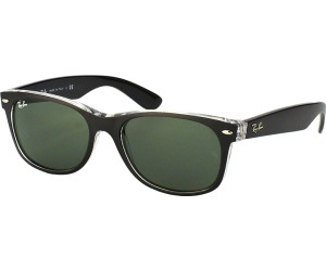 89ce3c5917fa6 Buy Ray-Ban New Wayfarer RB2132 6052 (top black on transparent green ...