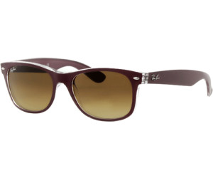 Ray-Ban RB 2132 New Wayfarer 605485 52 top matte bordeaux on transparent L MWXCFo7a0B