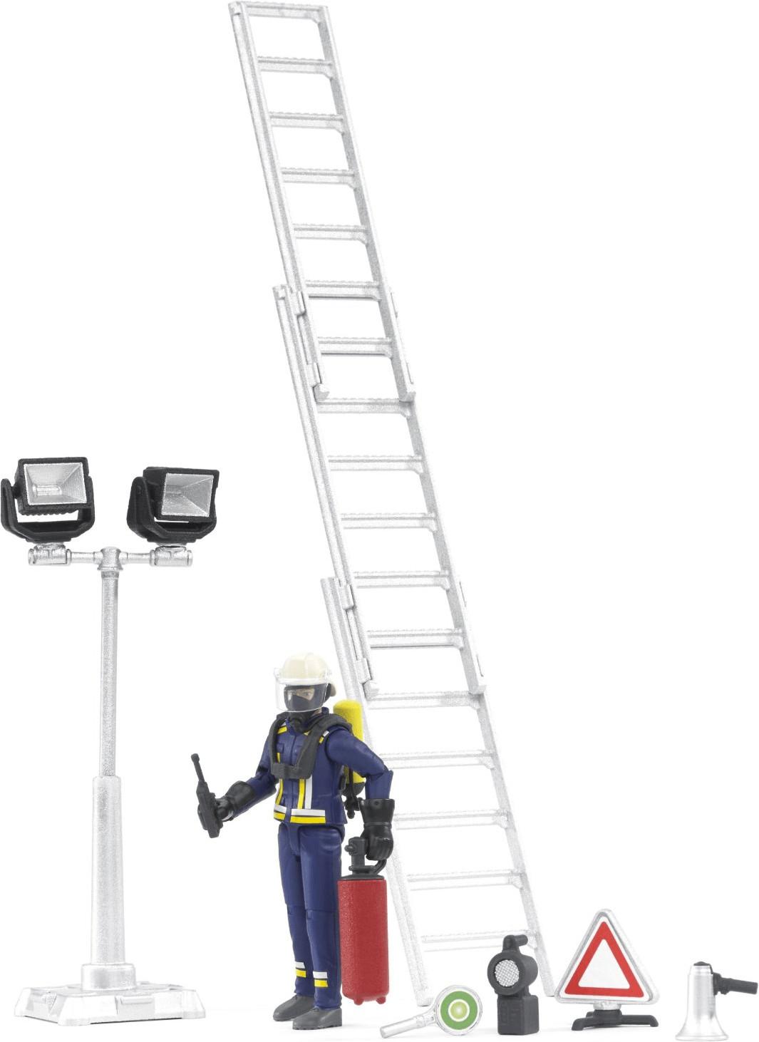 Bruder Feuerwehrmann mit Atemschutzausrüstung und Zubehör (62700)