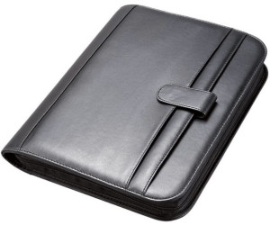 Alassio Ringbuch-Mappe AREZZO A4 Leder schwarz Aktenmappe