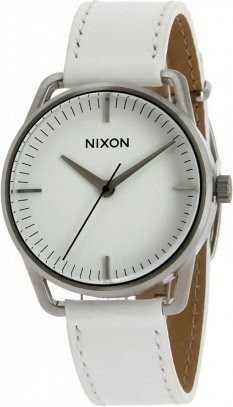Nixon The Mellor Silver / White Herrenuhr (A129391)