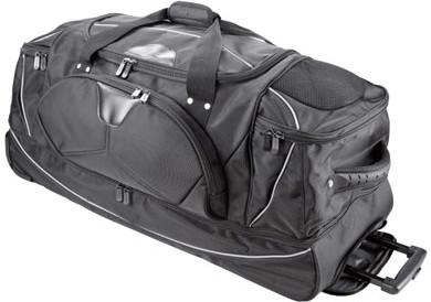 Dermata Reisetasche auf Rollen mit Rucksackfunktion (3462NY) schwarz