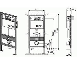 tece profil wc modul mit sp lkasten 9300000 ab 128 15. Black Bedroom Furniture Sets. Home Design Ideas