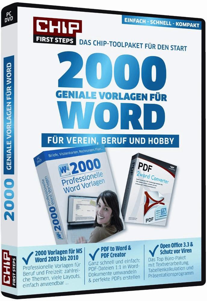 Chip 2000 geniale Vorlagen für WORD (DE) (Win)