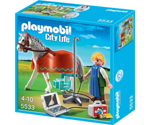 Playmobil X-vet With Appaloosa Horse Vet Animal (5533)