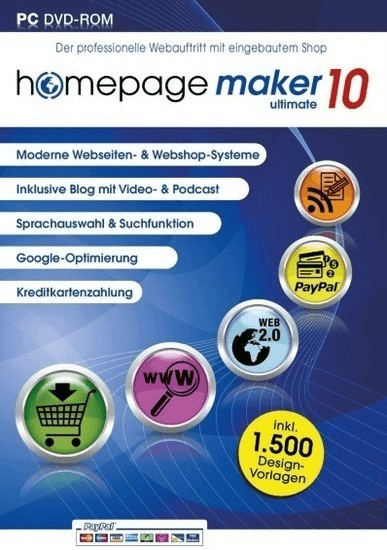 bhv Homepage Maker 10 Ultimate (DE) (Win)