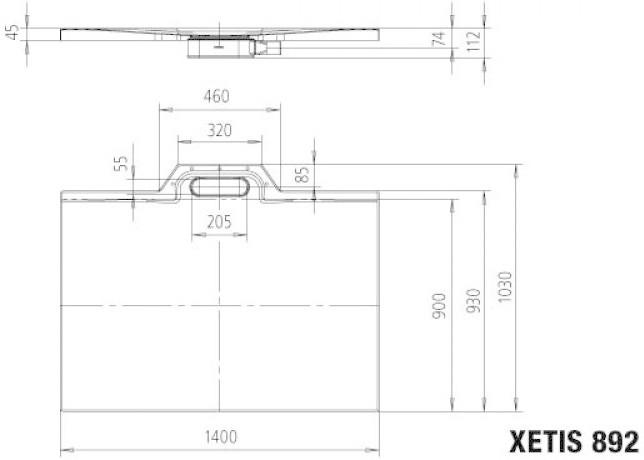 Kaldewei Xetis 892 Duschfläche 90 x 140